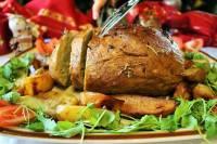 Roasted seitan and potatoes
