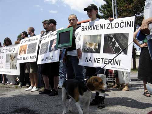 Protest in front of the Faculty of Veterinary Medicine 3