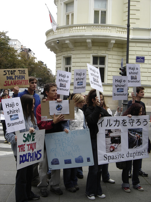 Japan Dolphin Day protest 3