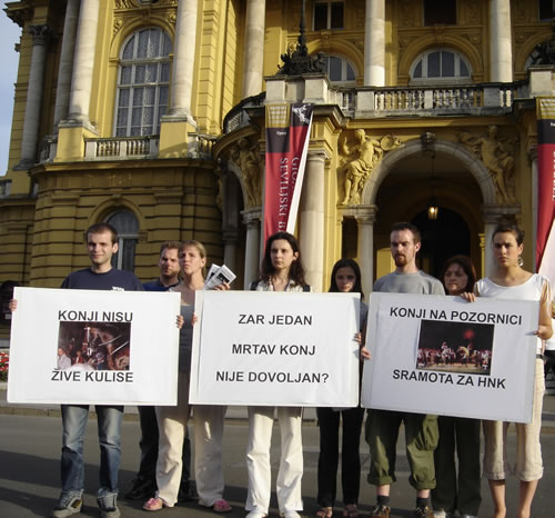 Protest in front of Croatian National Theater 1